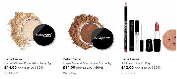 Bellápierre Make up Sale Clare With The Hair
